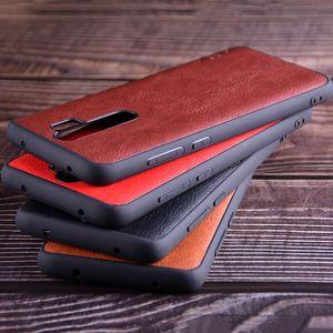 Cas pour Xiaomi redmi note 8 Vintage cuir peau litchi avec couvercle en silicone pour Xiaomi redmi note 8 pro capa coque