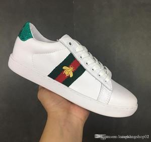 gucci Luxury brand Temporada Sapatos de Grife Moda Feminina Sapatos de Couro dos homens Lace Up Plataforma Tênis de Grandes Dimensões Sola Branco Preto Sapatos Casuais