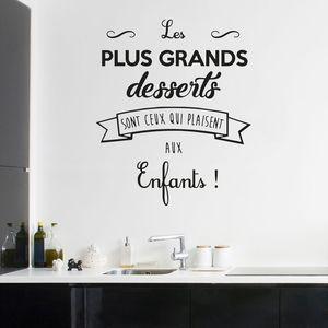 Виниловые наклейки Котировки Cuisine Les Plus Grands Десерты Наклейка на стену для кухни French Elegance Таблица Наклейка Водонепроницаемый DIY