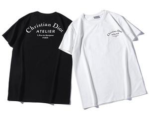 Early Spring 2019 Novo Design kanye Bee Bandeira de Prata Impresso manga curta de luxo T-shirt Di Lazer
