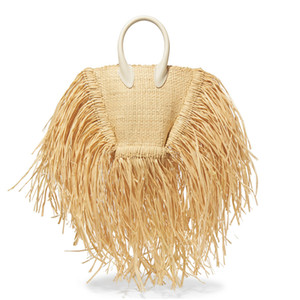 2019 New Spring Summer Women Bags Tassels Natural Straw Paper Single Chain Cross Body Small Packages Vacation Bag