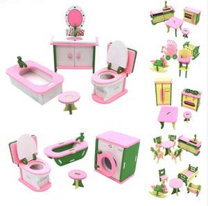 Linda casa de muñecas, simulación, muebles de madera en miniatura, juguetes, muebles de madera, juego de muñecas, sala de bebés para niños, juguetes de juguete, rompecabezas