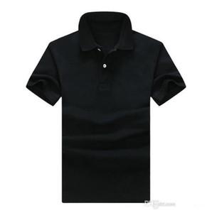Летние мужчины роскошные высокое качество Крокодил вышивка рубашки поло с коротким рукавом прохладный хлопок Slim Fit повседневная бизнес мужчины рубашки