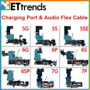 Puerto de cargador original A + USB Dock Connect para iPhone 5 5S SE 6 6P 6S 6SP 7 7P Puerto de carga Audio Flex Cable DHL Free