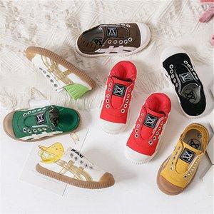 Fashion Kids Canvas Shoes Boys Girls Plimsolls Slip-on Canvas Sneakers Spring Designer Sport Shoe Children Breathable Platform Flat Shoes