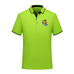 Polo Real Sociedad estate 2020 camicia di cotone moda di calcio di polo degli uomini Maglia manica corta formazione camicia di uomini risvolto di polo di calcio polo degli uomini