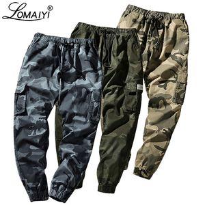 LOMAIYI M-7XL Mens Pantaloni Pantaloni Uomo Camouflage Cargo Pants Maschio Jogger 2019 pantaloni degli uomini Camo Sorgente Con tasche BM279