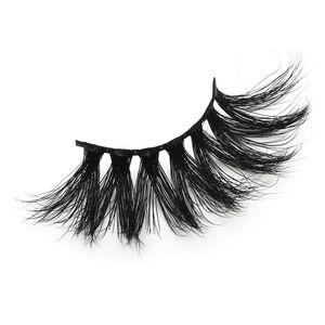 25 mm Faux Cils épais bande de 25 mm 3D Mink Lashes Longueur supplémentaire Vison Cils Maquillage dramatique cils longs Mink