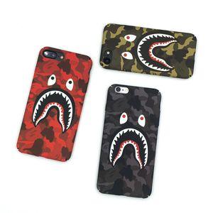 Новый дизайнерский камуфляж акула рот матовый Противоударный защитный чехол для iPhone 11 Pro Max X XS XR 6 7 8 Plus Xsmax, подходит для Samsung S8