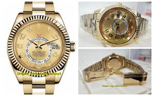 16 색 고품질 시계 42mm 스카이 거주자 GMT 일하는 326,938 326,935 326,938 18K 골드 아시아 2813 운동 자동 남성 시계 WatchesLuxu