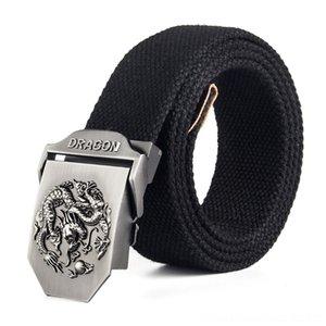 12 Types Mens Canvas Army For Jeans Belts Belts & Accessories Dragon Metal Buckle Strap Male Tactical Belt Long Adjustable Black Waist Belt