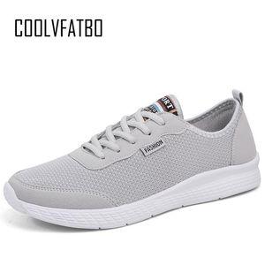 COOLVFATBO мужская Мужская обувь Мода удобные зашнуровать кроссовки сетки квартиры летние кроссовки дышащий Повседневная обувь плюс размер