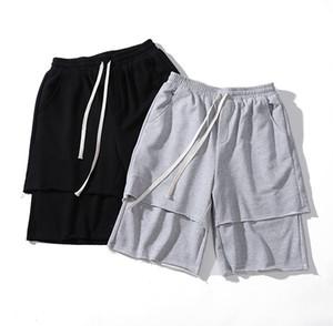 Mens Designer de Verão Shorts Pants Moda Double Layer projeto shorts soltos Casual Calças de Fitness Rua S-XL