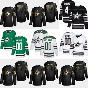 2019 Golden Edition Dallas Stars 43 Valeri Nichushkin 38 Joel L'Esperanc 34 Denis Gurianov 22 Adam Mascherin 18 Tyler Pitlick hockey Jersey
