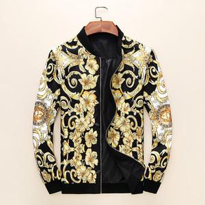 estilo europeu padrão Marca designers de roupas de moda jaqueta com zíper Medusa Moda Casual revestimento dos homens de alta qualidade de luxo de alta qualidade