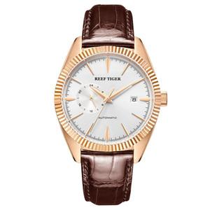 Reef Tiger / rt Top Brand Luxury Mens Watch Automatic Dress часы ремешок из натуральной кожи водонепроницаемый Relogio Masculino Rga1616 J190706