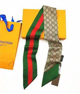 Nuovo lusso alla moda 8 * 120cm di vendita calda stampata foulard, cintura borsa, cintura a mano, sciarpa, sciarpa di seta stampata primavera, estate, autunno e inverno