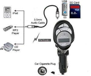 Car MP3 Player Wireless FM Transmitter Bluetooth LCD USB SD MMC CD Remote Control Foldable Car MP4 MP3