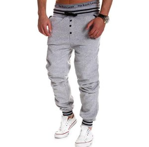 Men Pants New Style Fashion Casual Skinny Sweatpants Leisure Pants Trousers Drop Crotch Leisure Men Joggers Sarouel