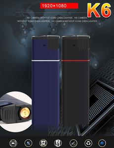 K6 HD night vision Lighter Camera 1080P USB Disk Lighter Mini DVR portable mini Video Recorder home Security Surveillance camera