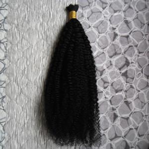 100G الإنسان التضفير الشعر السائبة الأفرو غريب مجعد الشعر البرازيلي السائبة أشقر السائبة 100٪ الشعر الطبيعي الخام
