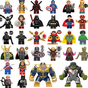 Nuovo super eroe mini figure 30set Thanos Big Hulk Wonder Woman Deadpool Logan Black Panther Dottor Strange Building blocks bambini regali