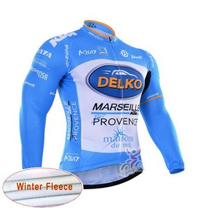 Delko Team Cycling jerseys winter thermal cycling jersey long fleece maillot ropa ciclismo winter cycling jersey B617-44