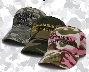 DHL Camouflage Trump Baseball Cap Outdoor Embroidery KEEP AMERICA GREAT 2020 Snapback Hats Unisex Travel Sport Causal Caps Supplies nf