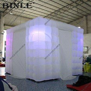 dimensione del colore su misura 3x3x2.4m cabina fotografica principale gonfiabile photobooth gonfiabile cabina Photo Booth in vendita