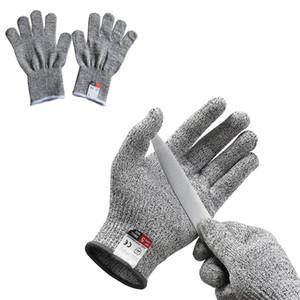 Анти-режущие перчатки Пищевой Уровень 5 Защита труда Трудовые страховые перчатки Кухня Мясник Cut Термостойкость Огнестойкие