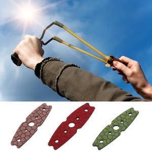 Alta calidad 10 piezas / juego de expulsión de cuero artificial bolsillo caza honda accesorios microfibra accesorios de caza al aire libre gratis