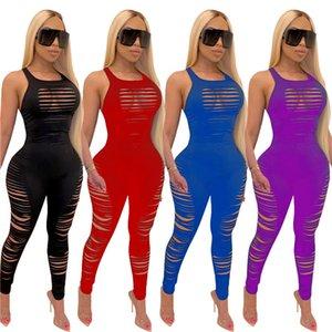 Womens concepteur salopettes barboteuses sexy gilet bretelles Combinaisons pantalon femmes vente chaude vêtements clubwear sexy costume klw3903 dos nu