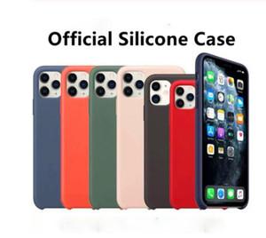 Coque d'origine silicone pour iPhone 11 Pro Max Xs Xr Case officiel liquide Silky Soft-Touch pour iPhone X 7 8 Plus 6s 6 Avec Retail Box