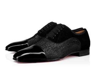 Top Men Wedding Party Dress Men Shoes Red Bottom Alpha Male P Strass Flat Hombre de negocios Flat Dress Shoes Cousin Charles Flat Top Daviol Fla
