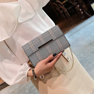 2020 new shoulder bag women's lattice iron edge dinner bag casual fashion messenger ladies