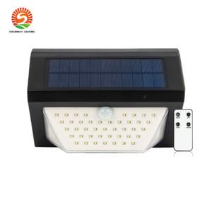 nuovo allarme vocale solare solare senza fili di telecomando transfrontaliera LED avviso di sicurezza Luce solare del giardino di illuminazione per esterni