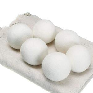 Wolle Trockner Bälle Premium-Wiederverwendbare Natürliche Weichspüler 2.76inch Static Reduziert Hilft trockene Kleidung in Wäsche Quicker Freies DHL