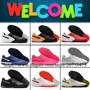 Tiempo Legend VIII Mens Indoor IC Football Cleats Soccer Boots High Quality Trainers Flats Leather Football Shoes Size 39-46