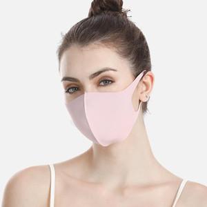 Розничная упаковка дизайнера маска для лица лед шелк защитный пылезащитные KPop Многоразовый моющийся удобный хлопок черный оптовой