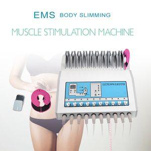 EMS мышц Стимулятор электростимуляция машина Российские волны EMS Electric Muscle Стимулятор десятки EMS для похудения машина для салона Spa Использование