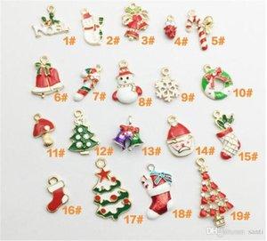 Festive 19 pc regolati lega NewYear del metallo di modo di Natale Decor Charm Set di natale Ciondolo goccia ornamenti incombe decorazione Natale