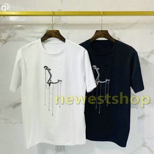 2020 new summer mens Embroidery Pendant print T Shirt Young Fashion Solid Color Short Sleeves t shirts Designer tshirt unsex Casual tee