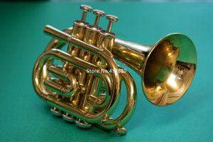 Heiße verkaufende Mini Jupiter JPT-416 Bb-Taschentrompete Gold-Messing Musikinstrument mit Fall-Zubehör Kostenloser Versand