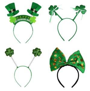 İrlanda St Patrick Günü Kafa Yeşil Cüce Shamrock Toka Fantezi Elbise Karnaval Noel aksesuarları parti iyilik hairband