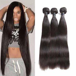 Brazilian Straight Hair Bundles 10-26 inch 3 4 Bundles Straight Human Hair Weave Extensions 50g pcs Cheap Malaysia Straight Hair