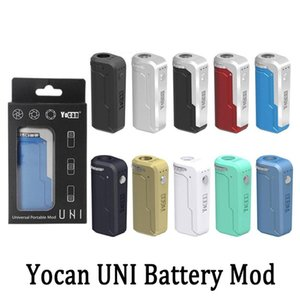 50pcs Yocan UNI Kit Evolve Plus XL Starter Kits Vape Pen 510 Battery 650mah With Adujustable Cart Sizing Wax Dry Herb Vape Pen