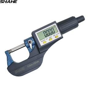 shahe 0-25 / 25-50 / 50-75 / 100 mm Micron Digitale Bügelmessschraube Elektronischer Mikrometer Messer 0.001 mm digitale Werkzeuge Sattel
