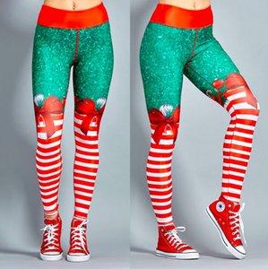 Natal calças de yoga mulheres de cintura alta ginástica do esporte Leggings fitness Sportswear Rápida Calças secas Leggings Yoga