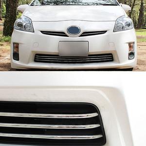 اكسسوارات JY SUS304 الفولاذ المقاوم للصدأ الجبهة الوفير جريل صب مقبلات تريم غطاء السيارة لPRIUS 30 2010-2011