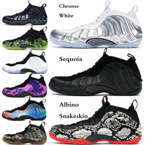 Vandalized USA Mousse Pro One Penny Hardaway Hommes Chaussures de basket Sequoia Denim Or Chrome blanc métallisé Cuivre sport Chaussures de sport US 7-12